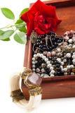 Jewelry in box Stock Photos