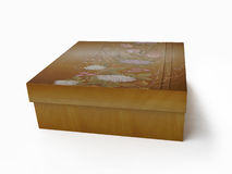 Jewelry Box Decorated with Flowers royalty free illustration