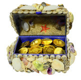 Jewelry box decorated  seashells Stock Image