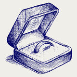 Jewelry box. Doodle style Royalty Free Stock Image