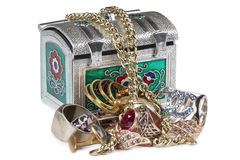 Jewelry and box five Stock Photography