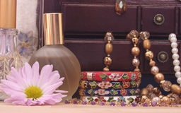 Jewelry Box and Flower Stock Image