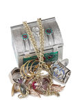 Jewelry and box four Royalty Free Stock Images