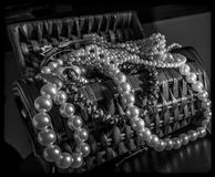 A Jewelry Box. Full of pearls Royalty Free Stock Photography