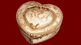 Jewelry box. heart shape jewelry box Stock Images