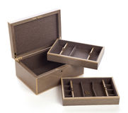 Jewelry box. Image is posed on white background Royalty Free Stock Image