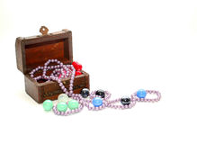 Jewelry box. Isolated on white background Stock Photo