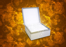 Jewelry box with magical circles Stock Photography