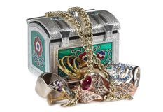 Jewelry in box one Stock Photography