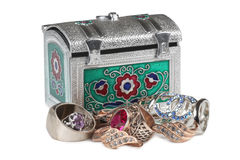 Jewelry and box one Royalty Free Stock Images