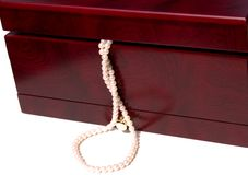 Jewelry box with pearls Royalty Free Stock Photo
