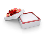 Jewelry box with a ribbon Stock Images