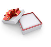 Jewelry box with a ribbon Stock Photography