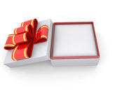 Jewelry box with a ribbon Royalty Free Stock Photography