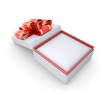 Jewelry box with a ribbon Royalty Free Stock Images