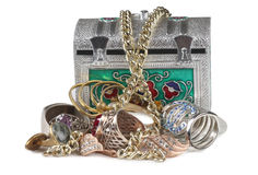 Jewelry and box six Royalty Free Stock Photos