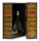 Jewelry box for storing high-end cognac Royalty Free Stock Photography