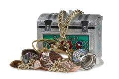 Jewelry in box three Stock Image