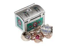 Jewelry and box three Royalty Free Stock Photo