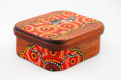 Jewelry Box. Uniquely designed wooden jewelry box Royalty Free Stock Photography