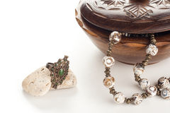 Jewelry with box Royalty Free Stock Images