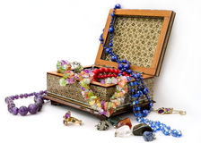 Jewelry box. On a white background Stock Photos