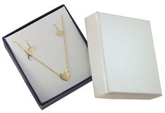Jewelry box on white background royalty free stock photography