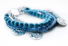 JEWELRY BRACELET WITH BLUE TURQUISE Stock Image