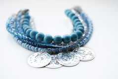 Jewelry bracelet with blue turquoise Stock Photography