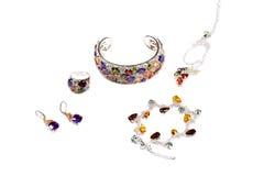 Jewelry, bracelet, earrings Stock Images