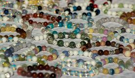 Jewelry. Bracelets of beads. Jewelry. Bracelets made of multicolored beads. Suitable for background Stock Image