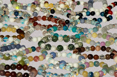 Jewelry. Bracelets of beads. Jewelry. Bracelets made of multicolored beads. Suitable for background Royalty Free Stock Photos