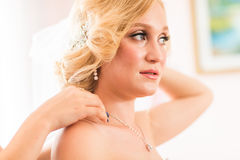 Jewelry of the bride stock photos