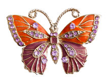 Jewelry butterfly Royalty Free Stock Images