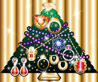 Jewelry Christmas Tree 1 Stock Images