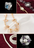 Jewelry collage. Collage of five jewelry photos Royalty Free Stock Photos