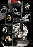 Jewelry collage. Collage of jewelry photos, on black Royalty Free Stock Image