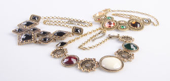 Jewelry collection. jewelry collection on background stock image