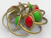 Jewelry composition Royalty Free Stock Image