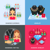 Jewelry Concept Icons Set Royalty Free Stock Image