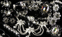 Jewelry. Costume jewelry with swarovski crystals stock photography