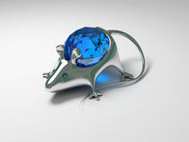 Jewelry decoration mouse with diamond Stock Image