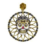Jewelry Design Art Vintage mix Skull Pendant. vector illustration