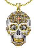 Jewelry Design Sugar skull  Pendant. stock illustration