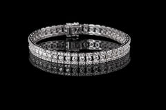 Jewelry diamond bracelet on a black background Stock Image