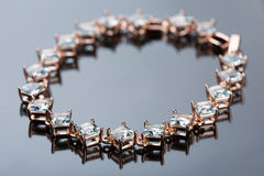 Jewelry diamond bracelet Stock Image