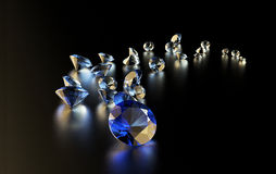 Jewelry diamond collection on dark Royalty Free Stock Photo