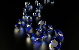 Jewelry diamond collection on dark Stock Photography