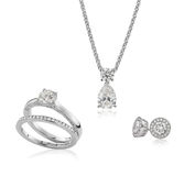 Jewelry diamond and gold set Stock Image