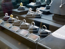 Jewelry diamond shop display. Jewelry diamond shop window display Royalty Free Stock Images